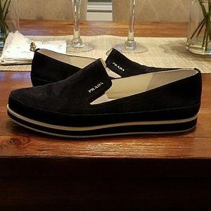Prada female suede sneakers